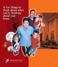 Simonton Safety Brochure - Home Doors & Windows