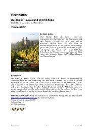 Rezension Burgen im Taunus und im Rheingau
