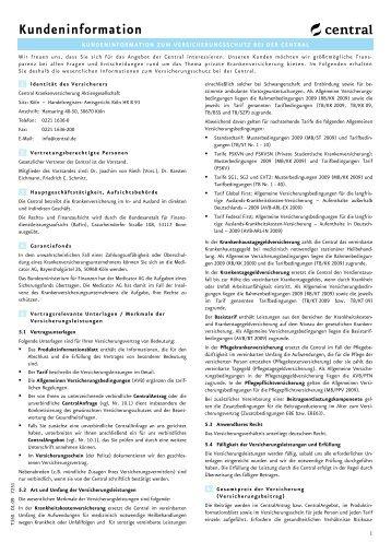 kundeninformation zum versicherungsschutz bei der ... - SECUdirekt