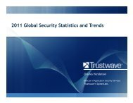 2011 Global Security Statistics and Trends - Build Security In