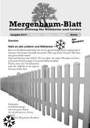 Mergenbaum-Blatt Winter 2011 - von Wolfgang Giegerich