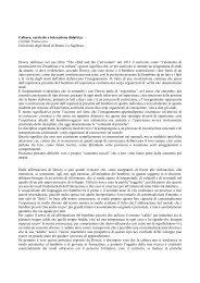 Cultura, curricolo e interazione didattica - Edizioni Junior