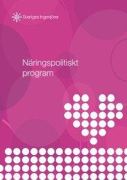 Näringspolitiskt program - Sveriges ingenjörer