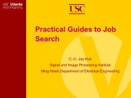 Presentation - USC Ming Hsieh Department of Electrical Engineering