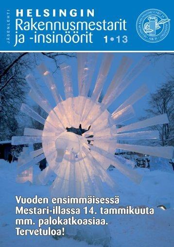 Yhdistyksen jäsenlehti 1/13, PDF tiedosto - Helsingin ...