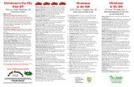 A Calendar of Holiday Events Thank You Christmas in the City Spon