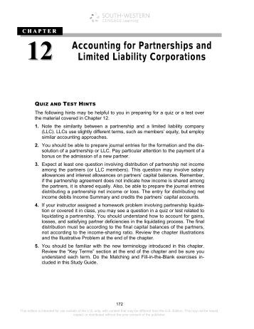 limited liability corporation and partnership paper A limited liability company (llc) is an unincorporated association that  of an  operating agreement, a document comparable to a partnership agreement.