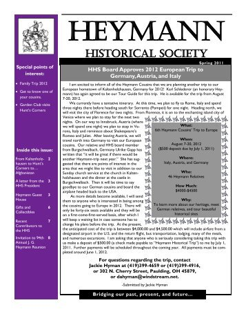 Heymann Historical Society Gifts, Souvenirs, and Collectibles