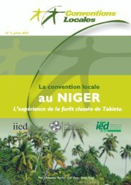 Convention locale au Niger - IED afrique