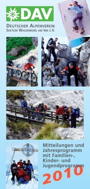 2010 deutscher alpenverein - DAV Sektion Wasserburg am Inn