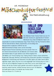 Mädchenkulturfestival Zeitung - Du-bist-online.de