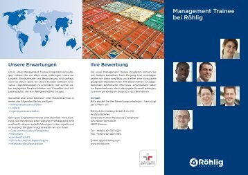 Management Trainee bei Röhlig