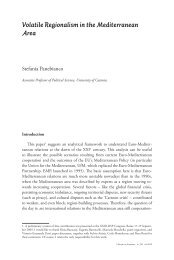 Volatile Regionalism in the Mediterranean Area - Studium