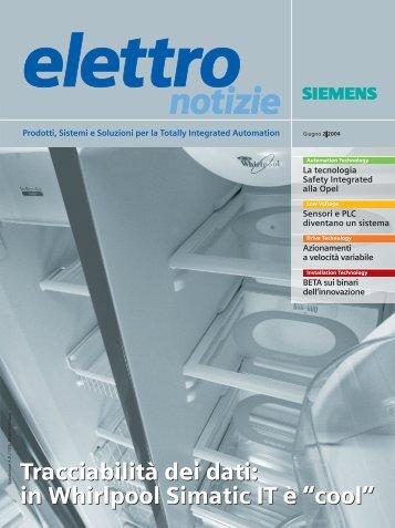 """Tracciabilità dei dati: in Whirlpool Simatic IT è """"cool ... - Siemens"""
