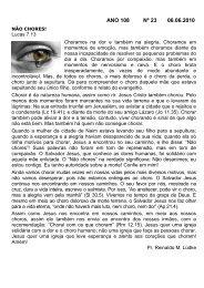 ANO 108 Nº 23 06.06.2010 - Comunidade Evangélica Luterana ...