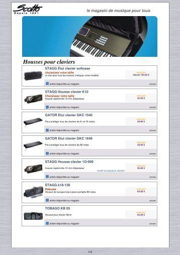 télécharger notre catalogue housses pour claviers ... - Scotto Musique