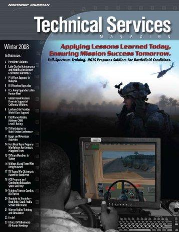 Technical Services Magazine • Winter 2008 - Northrop Grumman ...