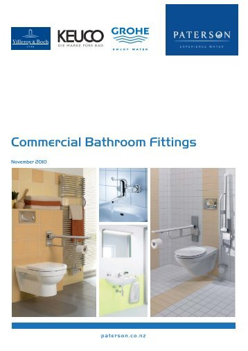 Commercial Bathroom Fittings - Paterson