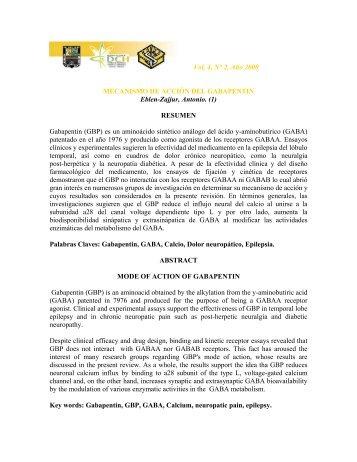 Vol. 4, N° 2, Año 2000 MECANISMO DE ACCIÓN DEL ...