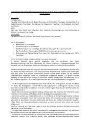 Protokoll der öffentlichen Pfarrgemeinderatssitzung am ... - St. Ignatius