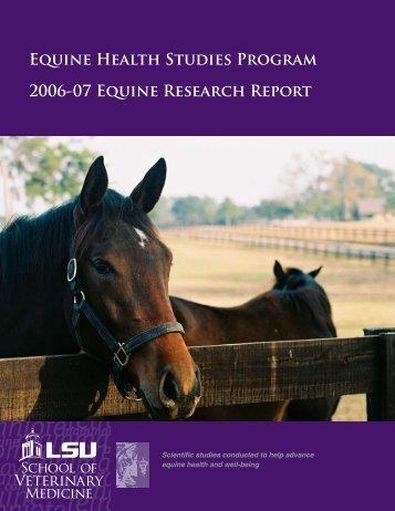 2007 EHSP Research Report - School of Veterinary Medicine ...
