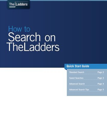 How to search on TheLadders