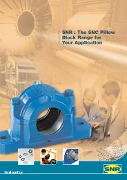 SNR : The SNC Pillow Block Range for Your Application - Ntn-snr.com