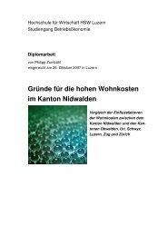 Gründe für die hohen Wohnkosten im Kanton Nidwalden - vlp-aspan