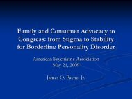 Family and Consumer Advocacy to Congress - Borderline ...