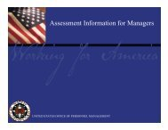 Assessment Information for Managers - IPAC