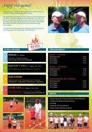 GoWell_Infofolder Camps 2013 - tennis club dornbirn