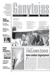 Nr. 6 (271) 2008 m. kovo 22 d. - Krikščionių bendrija TIKĖJIMO ŽODIS