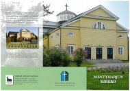 Mäntyharjun kirkko, esite - Mäntyharjun seurakunta