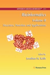 Bioinformatics Volume II, Structure, Function and Applications