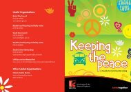 'Keeping the peace'- top ten tips - University of the West of England