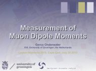 Measurement of Muon Dipole Moments - G-2 group