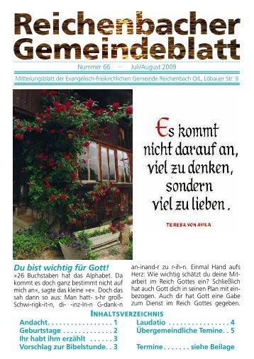 Nr. 66 Juli/August - bei der EFG Reichenbach