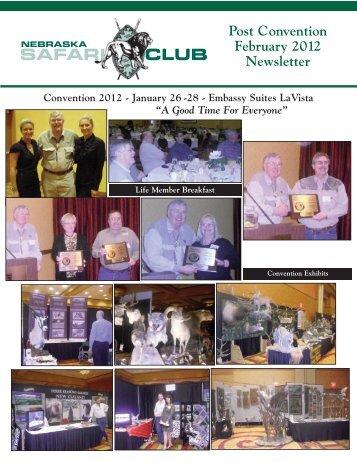 Post Convention February 2012 Newsletter - Nebraska Safari Club