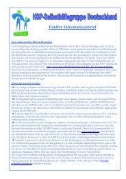 Fünfter Informationsbrief - HSP-Selbsthilfegruppe Deutschland EV