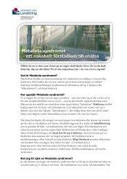 Metabola syndromet - ett riskabelt förstadium till ohälsa ... - jll.se