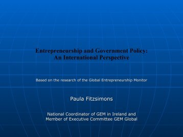 Entrepreneurship and Government Policy: An International ...