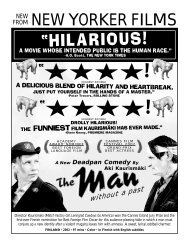 MAN WITHOUT A PAST.flyer - New Yorker Films