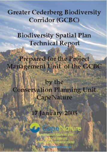 Technical Report - Biodiversity GIS - SANBI