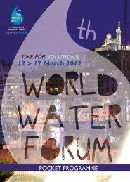 PrOGrammE - 6th World Water Forum