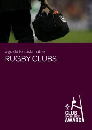 Sustainable Clubs - Irish Rugby