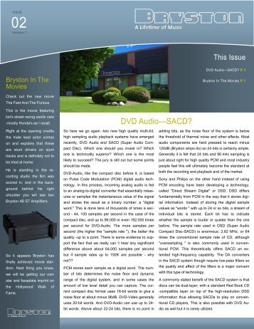 Volume 6, Issue 2 - Bryston