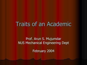 Traits of an Academic