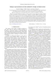 Subspace representations in ab initio methods for strongly ...