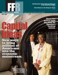 Ford Reports Fall 2004 - Ford Foundation