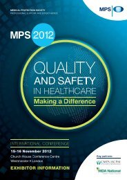 MPS International Conference 2012 Quality and Safety in ... - Eventtrac